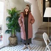 連帽外套-長版舖棉寬鬆純色冬季女夾克2色73wd41[巴黎精品]