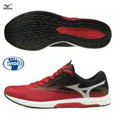 MIZUNO WAVE SONIC 2 男鞋 慢跑 路跑 馬拉松 寬楦 避震 耐磨 輕量 紅 黑 白【運動世界】U1GD193662