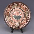 宋吉州窯彩繪花紋盆手盆手工仿古老貨瓷器家居擺件古董古玩收藏1入