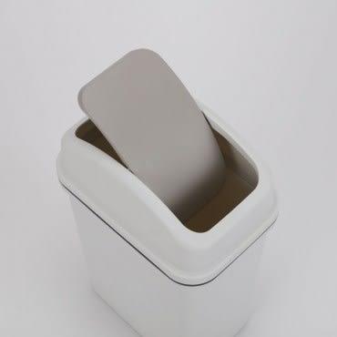 日式搖蓋垃圾桶10L