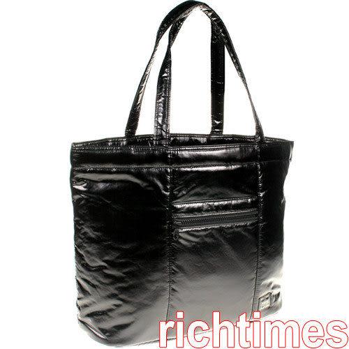 PORTER黑色可束口肩包(大)~日本製PR086641