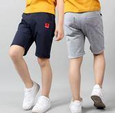 (預購)口袋車線褲腳捲邊五分褲(三色)~120/130/140/150/160CM
