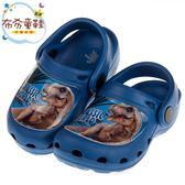 《布布童鞋》侏儸紀公園暴龍恐龍藍色兒童布希鞋(15~22公分) [ M9A901B ]