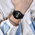 男士防水智能手表小米蘋果華為通用多功能電子運動手環女學生潮流
