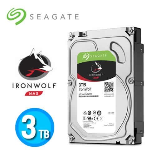 Seagate【IronWolf】哪嘶狼 3TB 3.5吋NAS專用硬碟(ST3000VN007)