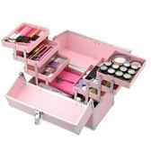 化妝箱-鋁合金粉嫩色彩多隔層美甲美妝專業工具箱73d32[時尚巴黎]