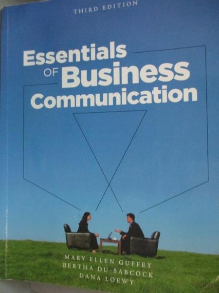 【書寶二手書T5/語言學習_HMU】Essentials of Business Communication with