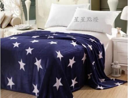 空調毛毯 單人午休加厚法蘭絨毯 星星點燈【藍星居家】