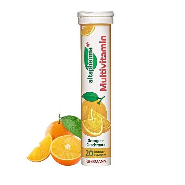 德國ROSSMANN 發泡錠-綜合橘子20顆/管【德潮購】