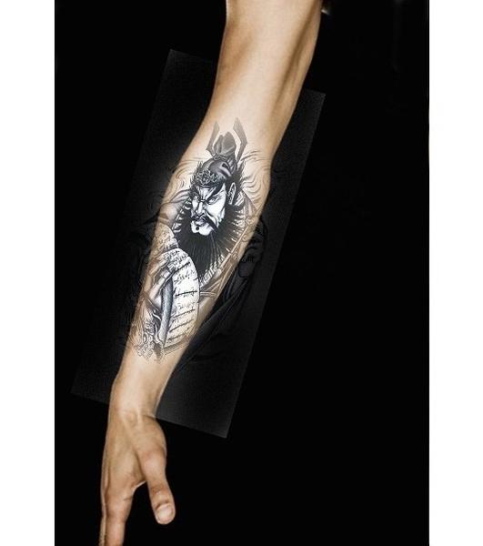 薇嘉雅 判官  環臂圖案紋身貼紙 AX16