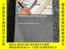 二手書博民逛書店Rendering罕見with Pen and Ink(建築設計