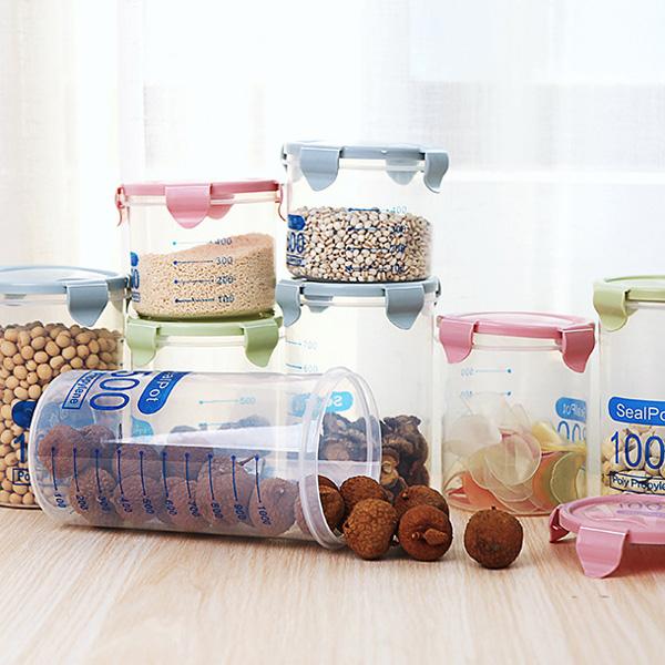 【BlueCat】五穀雜糧密封罐 (1000ml) 保鮮罐 乾糧罐 防潮罐 廚房收納