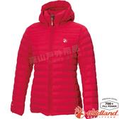 Wildland 荒野 0A72103-111胭脂紅 女收納枕拆帽極暖鵝絨外套 防風防潑水/保暖羽絨大衣/羽絨服