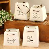 韓版可愛辦公陶瓷筆筒創意時尚簡約筆筒復古收納盒 LQ2039『小美日記』