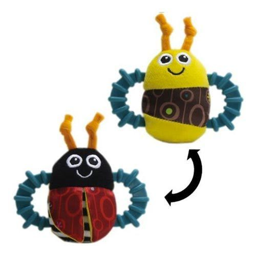 【奇買親子購物網】Lamaze 拉梅茲 嬰幼兒玩具-小瓢蟲固齒器搖鈴
