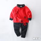 中國結流蘇內鋪棉長袖外套+長褲 新年套裝 拜年衣 拜年服 童裝 過年 大紅 唐裝 新衣 男童 新年