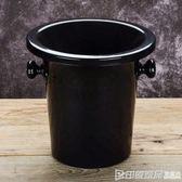 塑料吐酒桶 紅酒桶 香檳桶 盲品桶冰桶冰粒黑色 酒會時尚酒桶igo  印象家品旗艦店