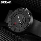 手錶 break創意手錶男學生女初高中韓版潮流簡約防水個性無指針概念錶 交換禮物