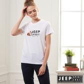 【JEEP】網路限定 經典狐狸LOGO短袖TEE-男女適穿-白