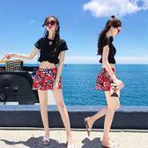 分體游泳衣女三件套泡溫泉聚攏小胸游泳衣女保守顯瘦遮肚性感韓國  無糖工作室