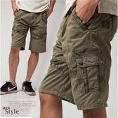 【大盤大】(A915) 夏 零碼XL號 淺可可 美式 多口袋 工作褲 休閒褲 短褲 五分褲 純棉100% 水洗褲