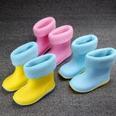 618好康又一發兒童雨鞋男童水鞋女童雨靴寶寶雨鞋小童中童防滑加絨膠鞋