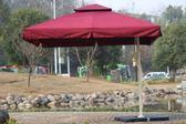 戶外傘庭院傘大傘擺攤太陽傘四方保安廣告傘折疊鋁加厚室外遮陽傘igo『新佰數位屋』