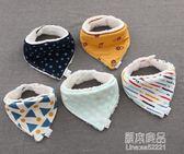 加絨保暖純棉寶寶口水巾嬰兒三角巾防水圍嘴新生兒童吸水秋冬      原本良品