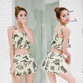 游泳衣新款韓國分體小香風女溫泉泳衣兩件套平角顯瘦學生泳裝批發
