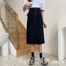 牛仔裙 牛仔半身裙女夏季薄款今年流行裙子小個子中長款高腰顯瘦a字長裙 俏girl