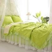 夏涼被 韓式蕾絲夏被少女心公主風白紗花邊夏涼被薄被子床裙式