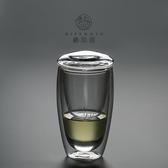 棲鳳居茶水分離泡茶杯耐熱雙層玻璃杯辦公室帶蓋過濾保溫隔熱水杯