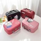 化妝包小號韓國簡約可愛少女心收納盒大容量手提化妝箱 萬聖節鉅惠