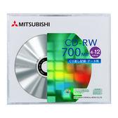 ◆免運費◆三菱 SERL CD-RW 4X-12X  700MB  (單片盒裝) x  10PCS