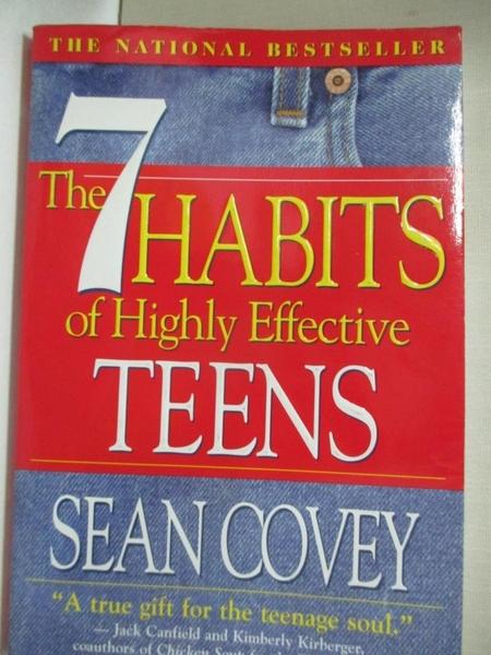 【書寶二手書T4/原文小說_I9S】The 7 Habits of Highly Effective Teens: The Ultimate Teenage Success Guide_Covey, Sean