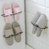✭米菈生活館✭【J180】掛壁式立體鞋架 黏貼式 鐵藝鞋架 浴室 拖鞋架 鞋收納架 掛牆 不占位