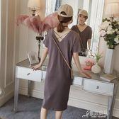 孕婦春裝夏裝連衣裙新款時尚孕婦裝夏季裙子寬鬆短袖T恤夏天 原本良品