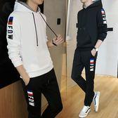 運動套裝 套裝男士連帽韓版潮流兩件套青少年學生休閑運動衣服