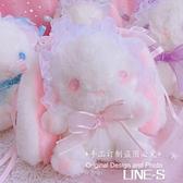 垂耳兔包 可愛軟妹玩偶改包 改瞳洛麗塔背包兔熊包包