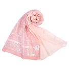 TRUSSARDI華麗花卉圖騰抗UV純綿薄圍巾(粉紅色)989402-A