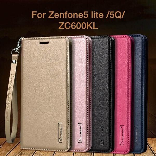 King*Shop~韓曼華碩zenfone5 lite/5Q手機殼ZC600KL皮套硅膠翻蓋式真皮保護套