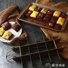 蛋糕模具美式加厚款2件套18格布朗尼模具不沾長方烤盤鳳梨酥烤盤 【快速出貨】