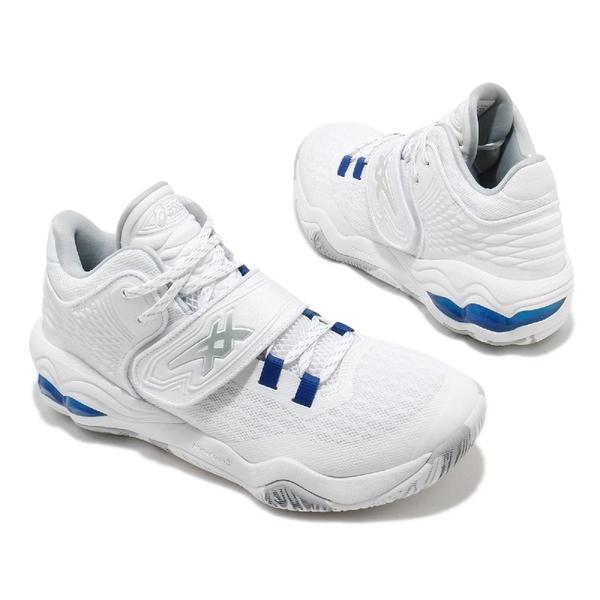 Asics 籃球鞋 Invade Nova 白 藍 男鞋 中筒 魔鬼氈 運動鞋 【ACS】 1061A029100