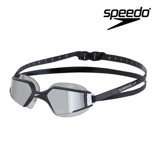 ≡Speedo≡ 成人進階泳鏡Aquapulse Max 2 鏡面 黑/銀 -SD8097977485