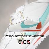 Nike 阿甘鞋 Wmns Classic Cortez Premium 白 藍 女鞋 運動鞋 【ACS】 905614-104
