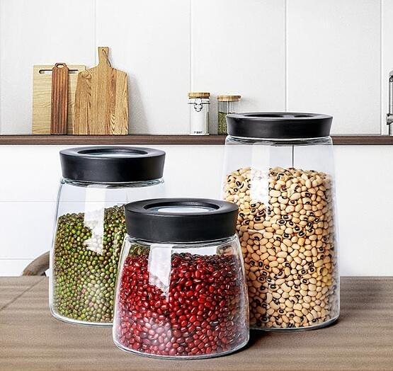 茶葉罐 密封罐玻璃瓶儲物咖啡豆茶葉罐檸檬蜂蜜收納盒酵素帶蓋食品小罐子 全館免運 限時鉅惠