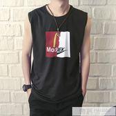 夏季潮牌嘻哈寬鬆坎肩男士背心 運動籃球青年透氣健身無袖t恤潮流 韓慕精品