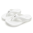 PLAYBOY 3D隱形氣墊夾腳拖鞋-白(YT705)