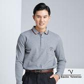 【Emilio Valentino】簡約素面保暖透氣 吸濕排汗POLO衫 - 灰