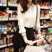 襯衫白襯衫女長袖正韓寬鬆雪紡上衣韓范學生加絨加厚 奈斯女裝